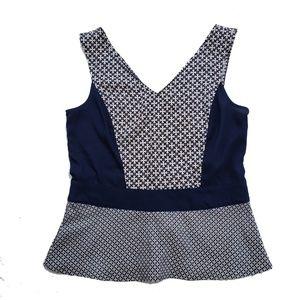 Ann Taylor Shirt Size 4 Tank Sleeveless Peplum